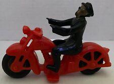 """Vintage Hubley Kiddie Toy Pd Motorcycle & Police Patrol Cop 5"""" Plastic"""