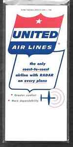 ***1958 United Airlines System Timetable - April 1, 1958***