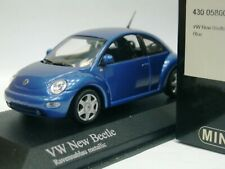 WOW EXTREMELY RARE VW New Beetle 2.0 Hatchback 1998 Blue 1:43 Minichamps-GTi/R32