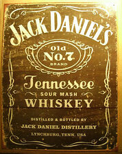 Old Style Tin Sign - Jack Daniels Whiskey Ad - Man Cave Sign - Old No. 7 Brand