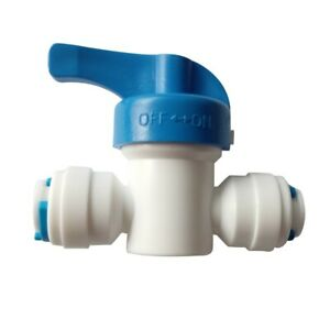 """10PCS 1/4"""" Tube OD Equal Ball Valve Quick Connector Ro Water Purifier"""