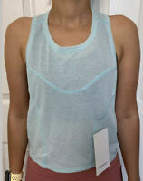 Lululemon Size 4 Stronger as One Muscle Tank Blue HEGW Swiftly Xstink Layer Yoga