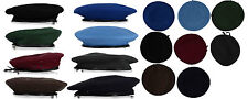 New Military Beret- 100% Pure Wool-Leather Binding- Military Standard #20484