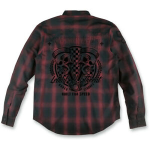 Lethal Threat Built for Speed Long Sleeve Shop Shirt (Red) 2XL