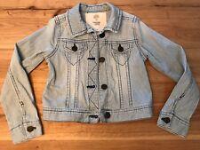 Tucker + Tate Girls Crop Denim Jacket, Washed Railroad Color, Size 5