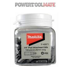 Makita P-49971 PZ2 Hex Insert Bits 25mm (Candy Tub of 100)