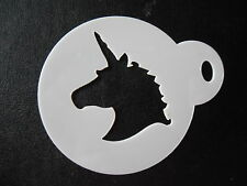 Laser cut small unicorn head design cake, cookie,craft & face painting stencil