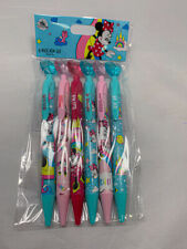 Disney Parks Minnie Mouse 6 Pack Pen Set Heart Top Bow Style Black Ink - NEW