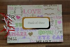 Personalised Love Words*Any Age Birthday*Hen*Anniversary*Photo*Guest Book Album