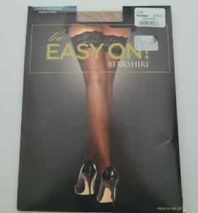 Berkshire Womens The Easy On Nude Luxe Thigh Highs Hosiery