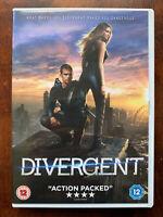 Divergent DVD 2014 Teen Ya Fantascienza Film W/Shailene Woodley + Kate Winslet