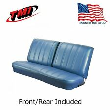 1966 Chevelle Coupe Blue Front/Rear Bench Seat Upholstery by TMI - IN STOCK!!
