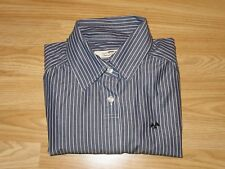 Womens Genuine THOMAS BURBERRY Cotton Blue Striped Shirt Top Size L Large VGC!
