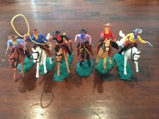 Timpo 2nd Series Mounted Cowboys (3) - Complete Set - Wild West - 1960's