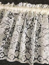 Beautiful Lace Curtain Valance - New Majestic -ECRU-35 cm Drop buy per metre