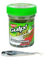 "Berkley Gulp 1"" /2cm Minnow Emerald Shiner"