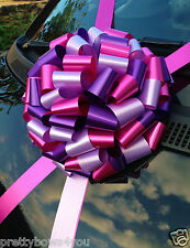 Giant Car/Bike Bow Extra Large Birthday Gift Bow 30CM HOT PINK+LILAC+PURPLE bow