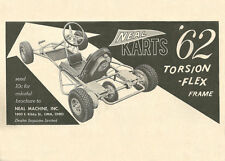Vintage and Rare 1962 Neal Karts Racing Go-Kart Ad