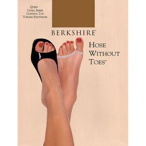 Berkshire Ultra Sheer Control Top Toeless Natural Tan Pantyhose Size 1