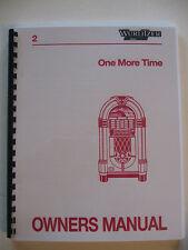 Wurlitzer 1015 OMT 45 RPM Jukebox manual
