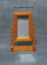 Swivel Mirror in Light Wood, Dolls House Miniature 1:12th Scale