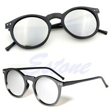 Vintage Retro Men Women Glasses Round Metal Frame Mirror Lens Sunglasses Eyewear