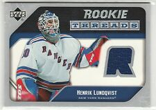 2005 05-06 Upper Deck Rookie Threads #RTHL Henrik Lundqvist RC-year jersey