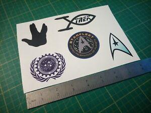 Star trek sticker sheet Federation starfleet