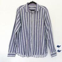 Ted Baker London Men's 6 Purple Stripe Long Sleeve Button Dress Shirt