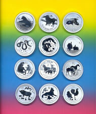 Lunar II Sammlung  Serie  12 Münzen  je 1 Oz Silber  2008 - 2019
