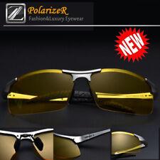 Tac HD Polarized Night Vision glasses Men Driving Sport Pilot Aviator sunglasses
