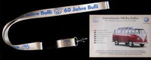 VW Bus 60 Jahre - Schlüsselband Lanyard & Postkarte - limitiert - NEU