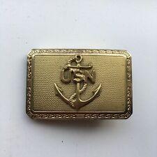 Vintage USN US Navy Anchor Solid Brass Belt Buckle London