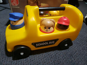 Step 2 Chunky People School Bus Driver 4 Students Boys & Girls Complete *Vintage