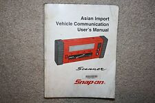 Snap-on MT2500 Scanner Asian Primary Users Manual ZMT2500-1401 MTG2500 Scan Tool