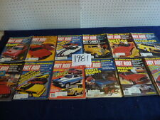 Hot Rod Magazine ( 1981) group of 12 ...complete year.. with extras (fair shape