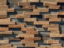 Antique Wall Cladding Reclaimed Wood Paneling Recycled 3D Vintage Brushed Panel