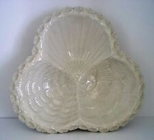 vintage italy creme-weiß keramik muschel kommode ablage/relish dish mark amora