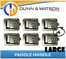 Large Paddle Handle (Lock, Latch) x6 Camper Trailer, Caravan, Toolbox, Motorhome