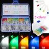 500Pcs 3mm Round Top LED Colorful Light Bulb DIY Set Car Decorations with Box