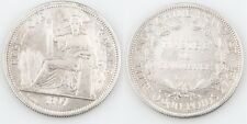 1897-A French Indochina 1 Piastre Silver Coin XF Vietnam Cambodia Laos KM-5a.1