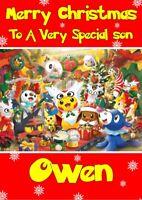 personalised Christmas card Pokemon Any name/relation