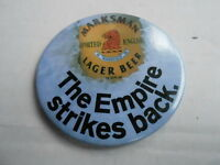 "VINTAGE 3"" PINBACK BUTTON #55- 059 - MARKSMAN BEER - EMPIRE STRIKES BACK"