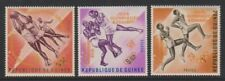 Guinea - 1964, Olympic Games Prepatory (Optd in Orange) set - M/M - SG 411/13