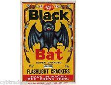 Firecracker Black Bat Image Refrigerator / Tool Box Magnet Man Cave