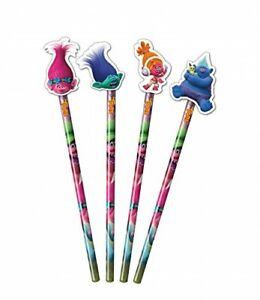 Trolls Pencils (1 piece) - With Eraser Head Toppers - Back to School Stationery
