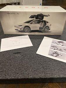 Tesla Model X 1:18 Scale Die-Cast P100D Pearl White Authentic New OEM Authentic!