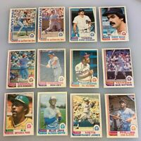 1982 O-Pee-Chee OPC Baseball Card Lot of 16 Cards Steve Carlton HOF