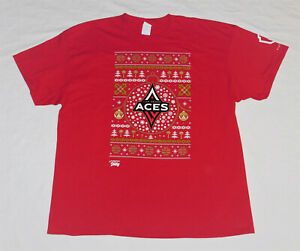 Las Vegas Aces WNBA Christmas In july 'Ugly Sweater' Pattern Shirt Size Mens 2XL