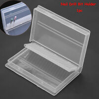Tool  Electric 20 Holes  Nail Drill Bit Holder Organizer Container  Storage box